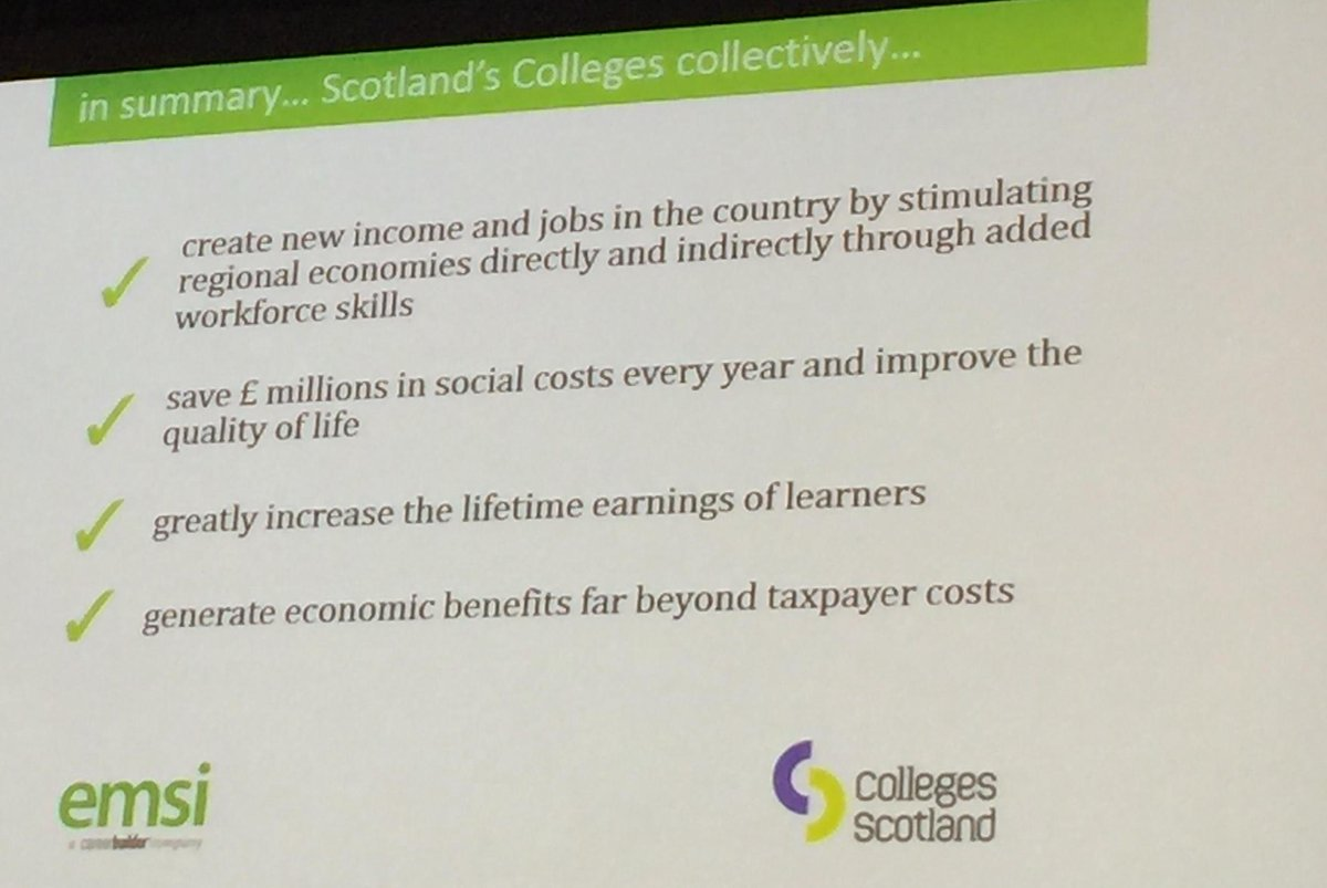Joe Wilson (@joecar): colleges are a social investment that pays out to all stakeholders and learners http://t.co/NZqFQYVoTH