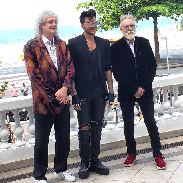 Instagram Photo: Power trio,@Queen is in the house. Brian + Adam + Roger ... https://t.co/CTgg8gQ9q4 http://t.co/Qv3SMxJ2g6