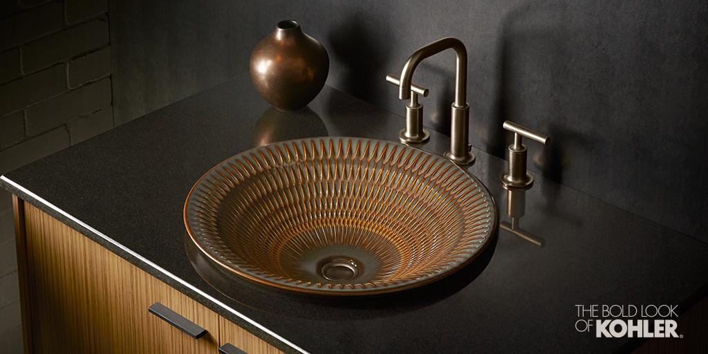Celebrate the raw beauty of studio pottery. See more of this handcrafted sink: http://t.co/1yEBaLg8fe http://t.co/dQ9ccUBm1W