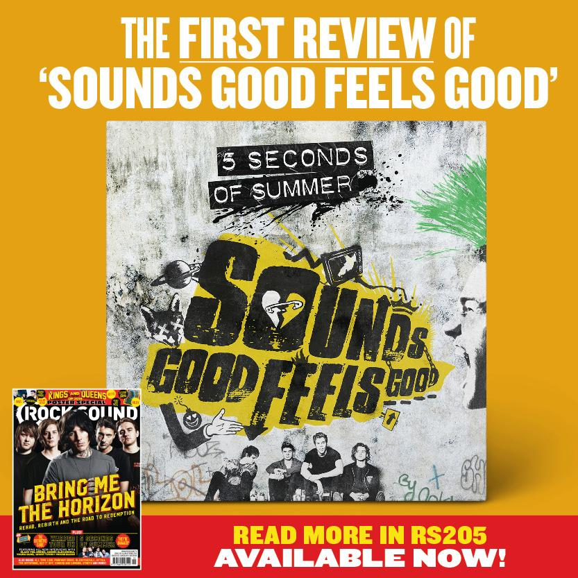 Hey @5SOS fans, we have the first review of 'Sounds Good Feels Good' ANYWHERE. Right here: http://t.co/sKDxek0YYQ http://t.co/a0WD1PVubO