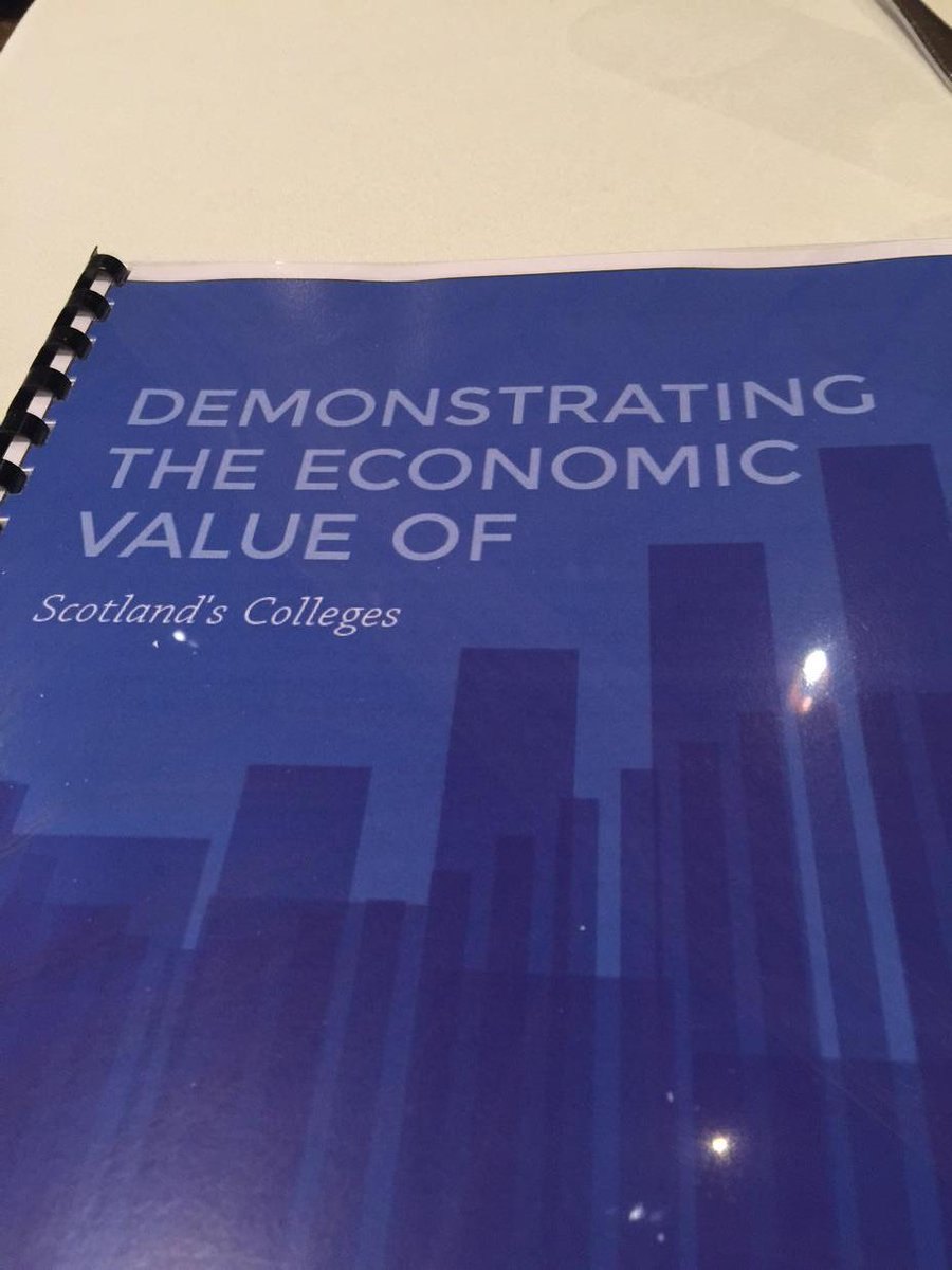 Joe Wilson (@joecar): Great piece of work on demonstrating the economic value of colleges across scotland well done @collegesscotland http://t.co/szJ6MpItTp
