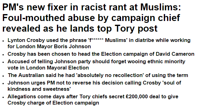 From Daily Mail when Cameron hired guy Harper's just tapped to turn things around http://t.co/Ty3qGOkVS9 #cdnpoli http://t.co/rmR0Tqi62S