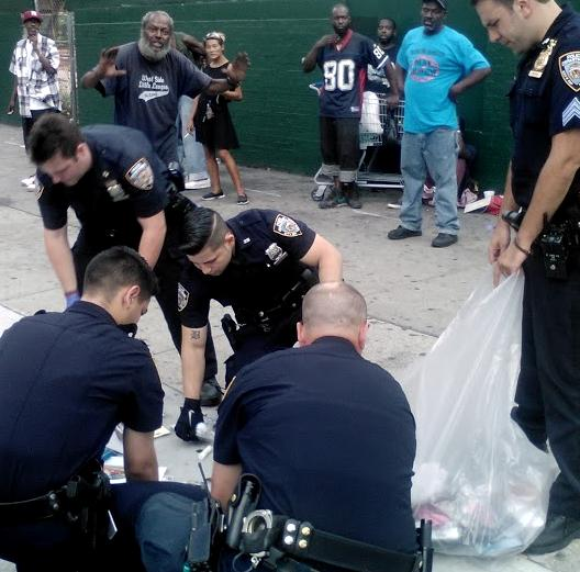 Glad @CommissBratton apologized to #JamesBlake. While he's at it: here's NYPD throwing away a homeless man's stuff. http://t.co/wmVbfKnWJY