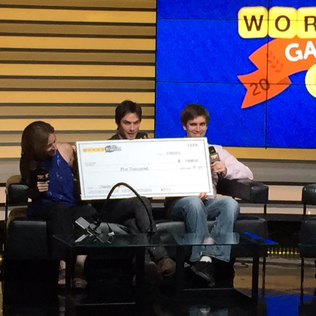 TeamIan picked to donate the $5k to the #ASPCA. #WordieGames http://t.co/D6s8umT1Up