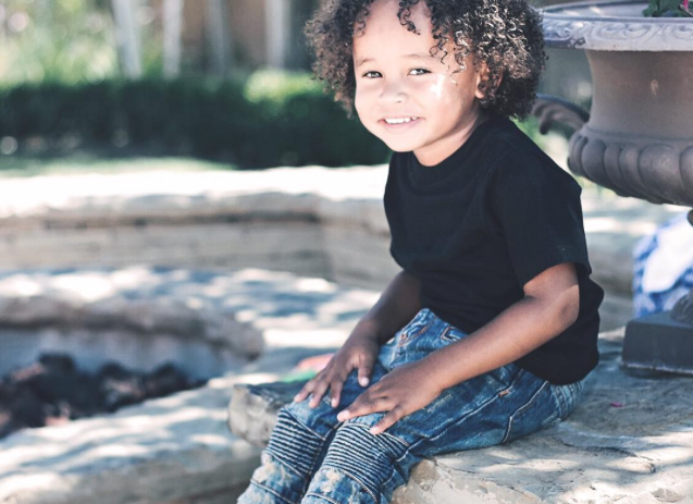 .@Tyga's two-year-old son just made his modeling debut and we can't get over the cuteness: http://t.co/tNsOqZzLP3 http://t.co/kNKaiMPiF2