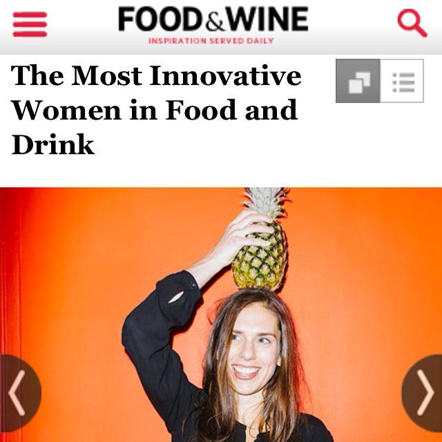 Pinching myself! Thank you for the huge honor, @foodandwine @FortuneMagazine ! http://t.co/2mGCmVOYXf http://t.co/Fz4HuKZTOr #fwwinnovators