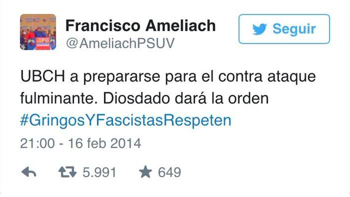 Bajo lo argumentos para juzgar a Leopoldo López, ¿cuántos años le darían al gobernador Ameliach? http://t.co/PPXQ9Z2DF2
