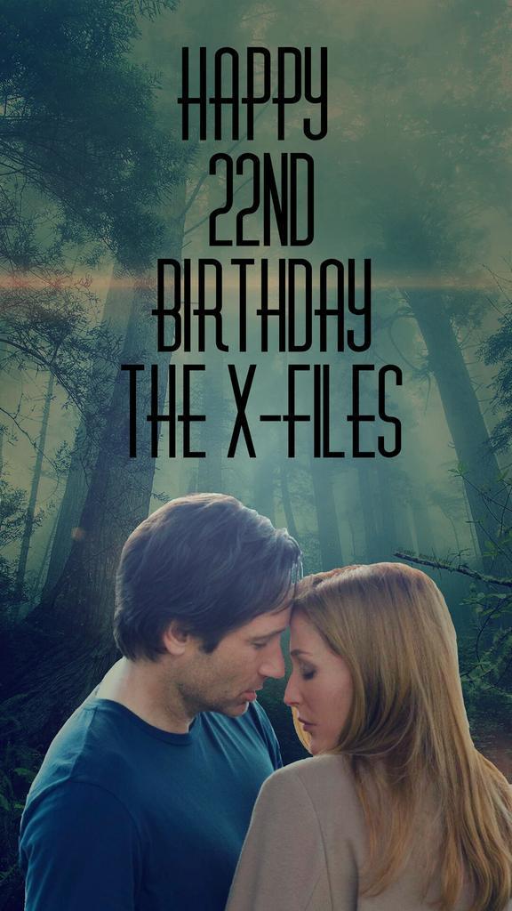 Happy 22nd Birthday @thexfiles! @davidduchovny @GillianA @MitchPileggi1 @dhaglund #201DaysOfTheXFiles @XFilesNews http://t.co/TVhwKEUOPz