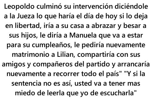 Las palabras de @leopoldolopez a la Juez Barreiros #10S  #VenezuelaConLeopoldo http://t.co/uUtmMTWo6v