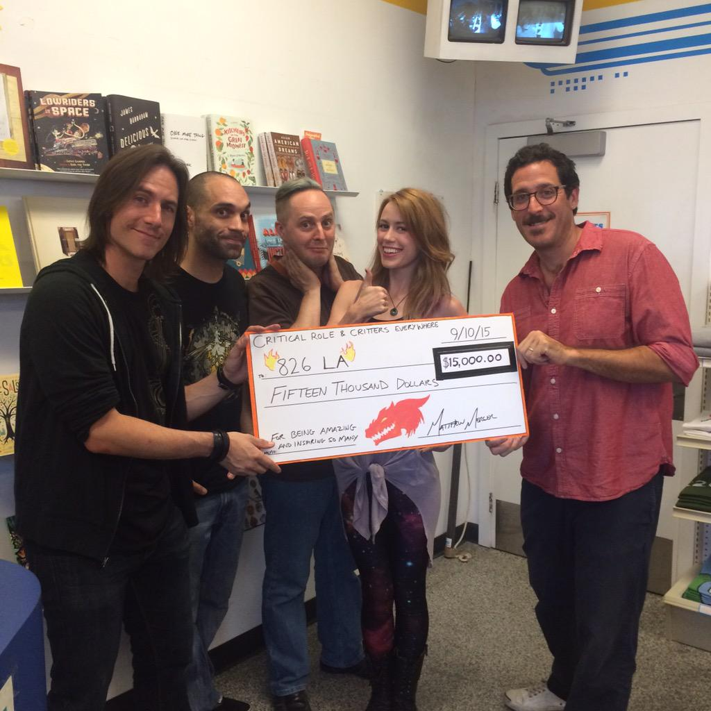#826LA is SO grateful for the support of #CriticalRole & to all of the #Critters who donated! @GeekandSundry http://t.co/7hWkMIEyj0