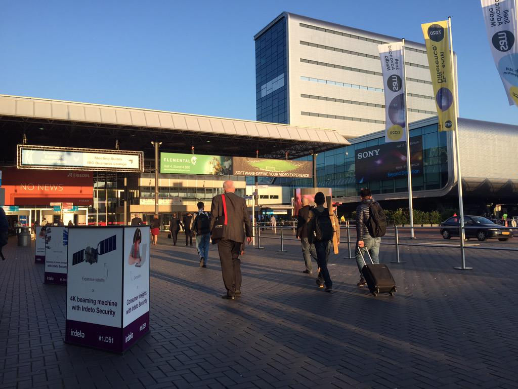 A stunning start to the day in Amsterdam for opening day of #IBCshow http://t.co/NjQdt68KvY