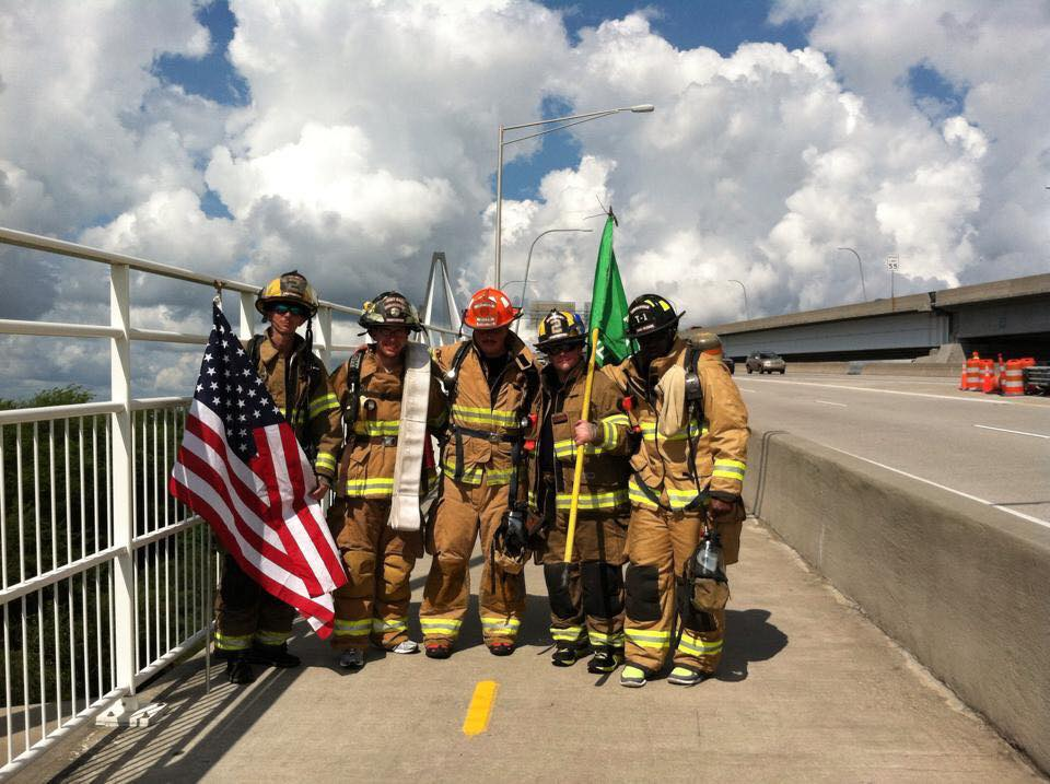 The 9/11 #SilentWalk takes place across the #RavenelBridge this morning to honor the fallen heroes #Remember911 http://t.co/Bd6v9XQiyu