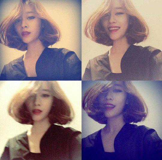 T Aras Jiyeon Shows Off Her Chocolate Mushroom Hairstyle