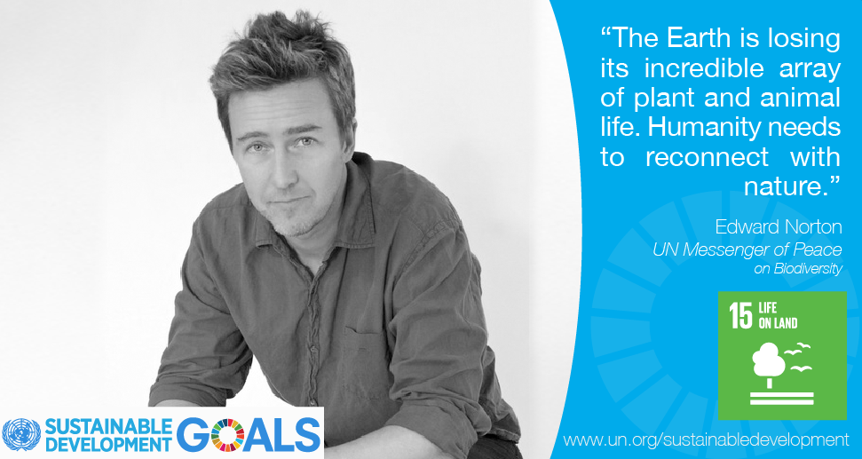 RT @UN: Protecting biodiversity is a job for all. Join @EdwardNorton in supporting #globalgoals http://t.co/ruQDG7nGSI http://t.co/cZsjiFmd…