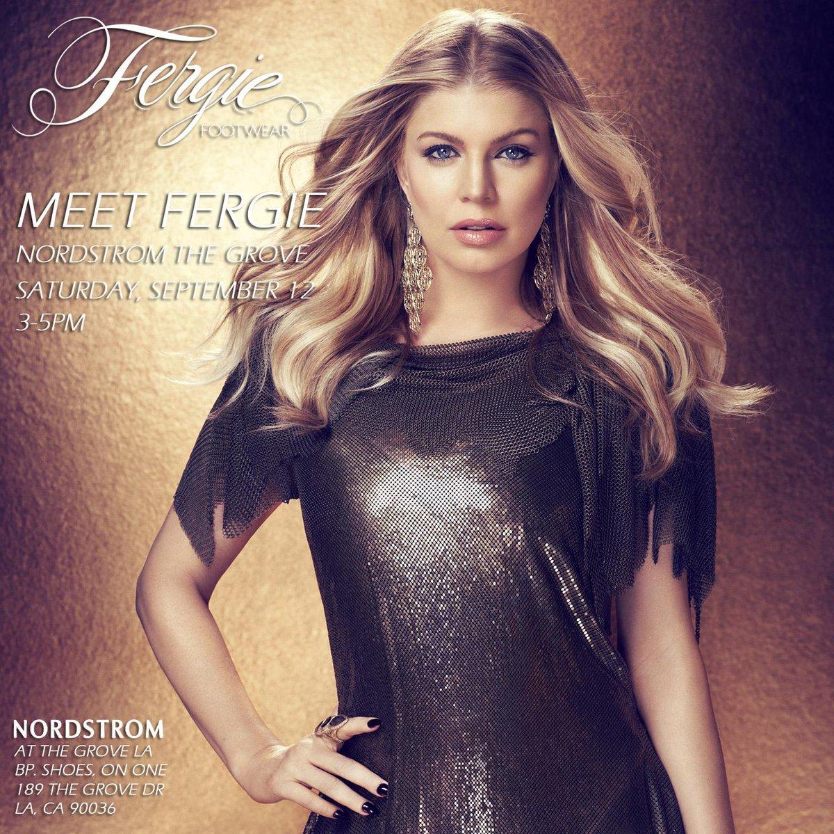 RT @FergieFootwear: TMRW 9/12,w/ yr #FergieFootwear purchase,MEET @FERGIE 3-5pm at @Nordstrom @TheGroveLA! #RSVP http://t.co/XxPX1CPHS0 htt…