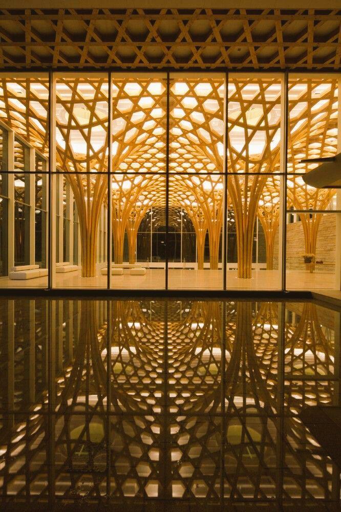 Nine BridgesCountry Club by Shigeru Ban Architects #architecture #shigerubanhttp://www.archdaily.com/ http://t.co/xqAzOtpEwy