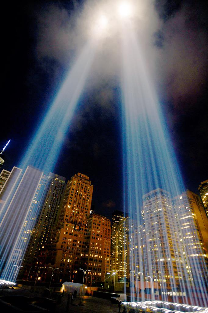 The lights of memories and hope still shine bright and stretch into the heavens. We will #NeverForget. http://t.co/iK2BVtmNmT