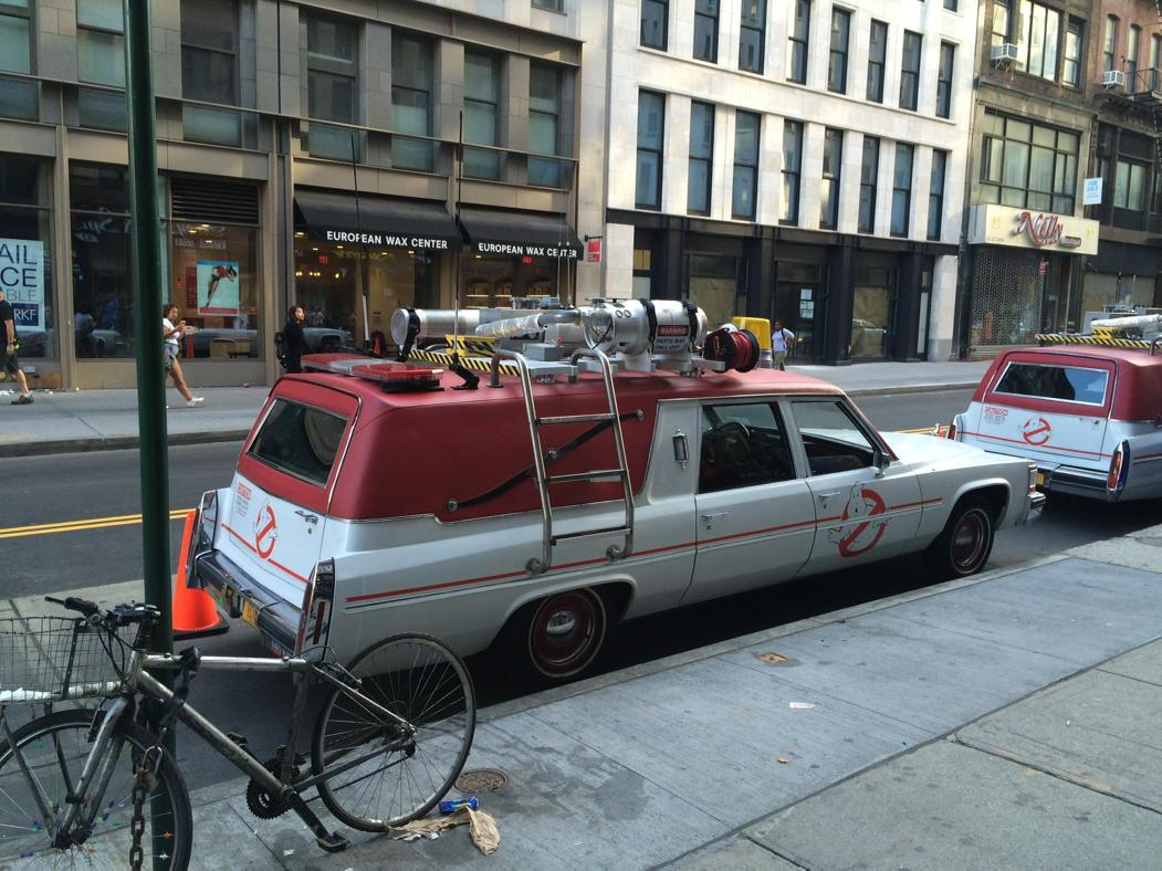 Ghostbusters reboot vehicle on Chambers right now http://t.co/uXP1VWTaqL