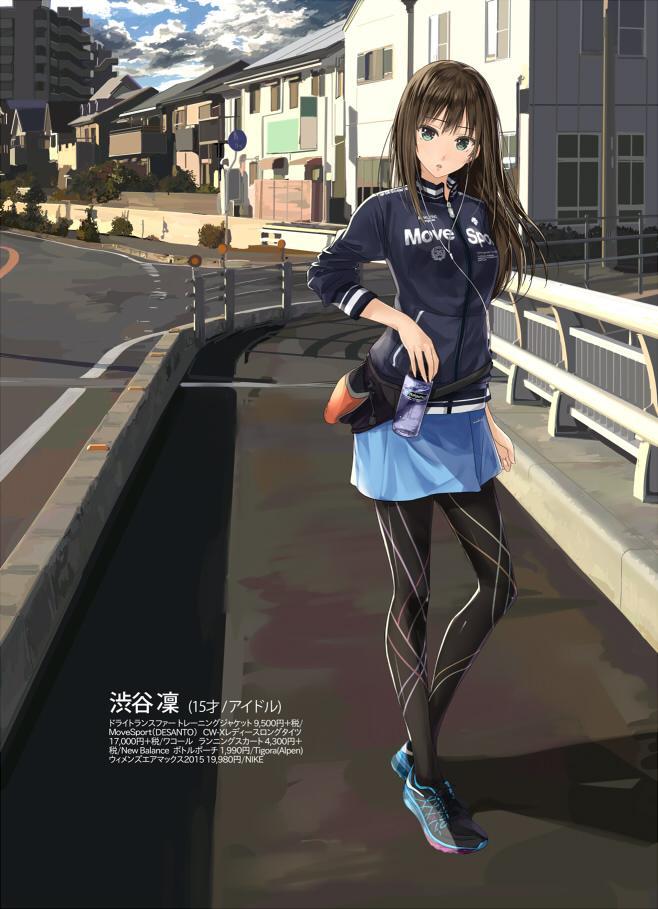 ランニングスタイルの渋谷凜描いた。しぶりんは大体なんでも似合う。 大きいサイズは容量デカイのでpixivに上げときます。  http://t.co/ECYrUKTHxQ http://t.co/mDGdskecKO
