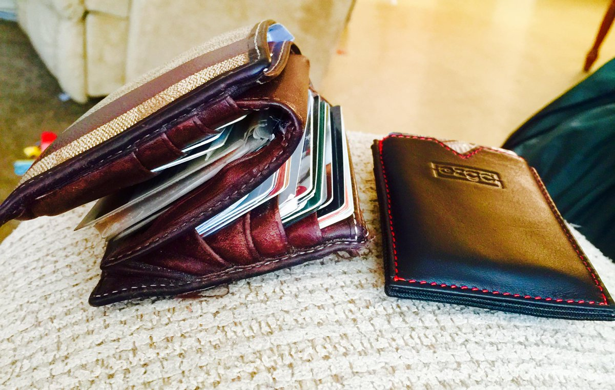 Old wallet and new wallet. Thanks for the recommendation @BenjaminBrooks http://t.co/Sl5nLtw3jT