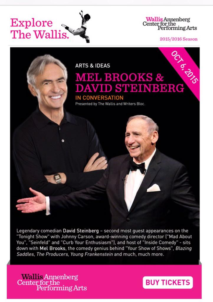 Can't believe I do this for a living. Oct 6th W @MelBrooks #BeverlyHills http://t.co/NlPdEwsRyF