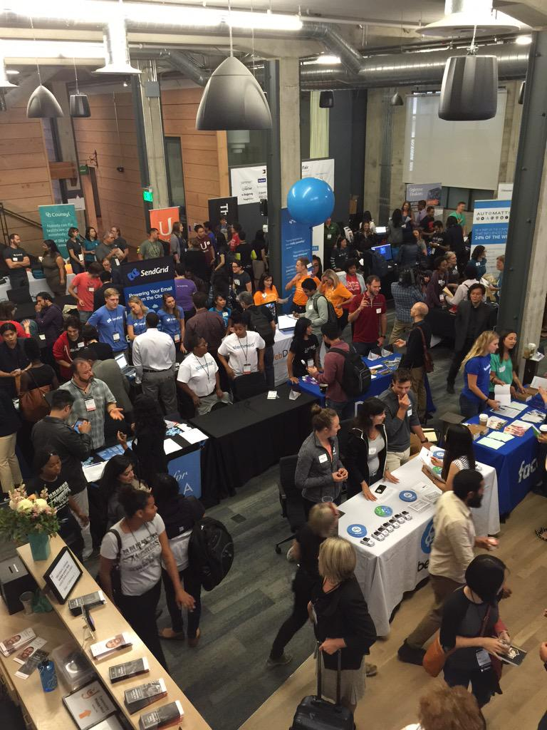 The #techinclusion15 career fair has started! We're expecting 600 diverse candidates. No pipeline excuses http://t.co/kN3ibmy3qJ
