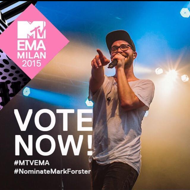 Es wird schön weiter getwittert, damit @forstermusic zum #MTVEMA nach Mailand kommt. #NominateMarkForster http://t.co/VMUCCPTpa2