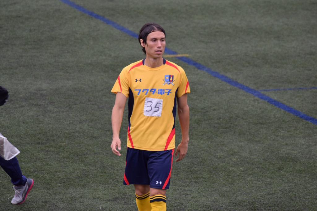 下村東美、東京都社会人サッカー1部リーグのグラウンドに立つ。 http://t.co/v7qw9wVIJD