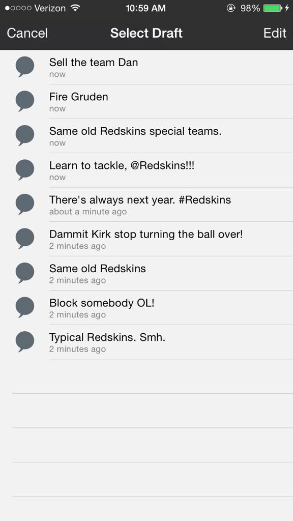 Got my tweets ready to go for game day. http://t.co/U1lUjPah9B