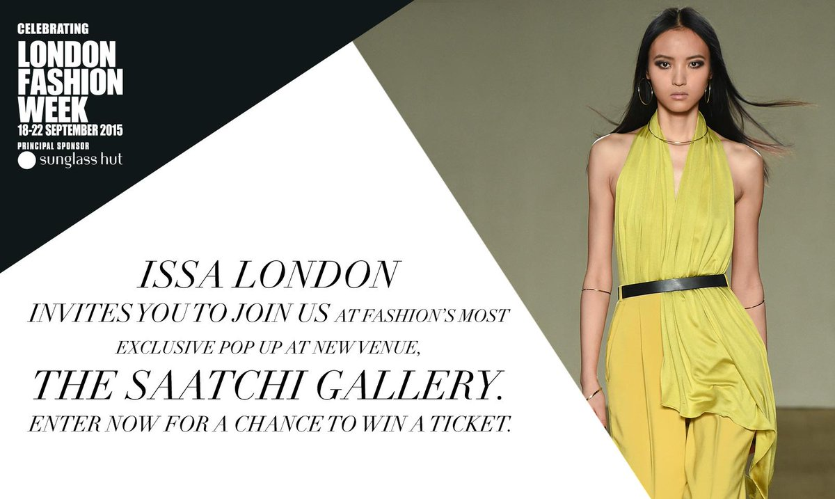 Want to win a ticket to @LFWEND with @IssaLondon? RT this post for a chance!  Full t&c's: http://t.co/PZpT781FWx http://t.co/K9EKAlkgbj