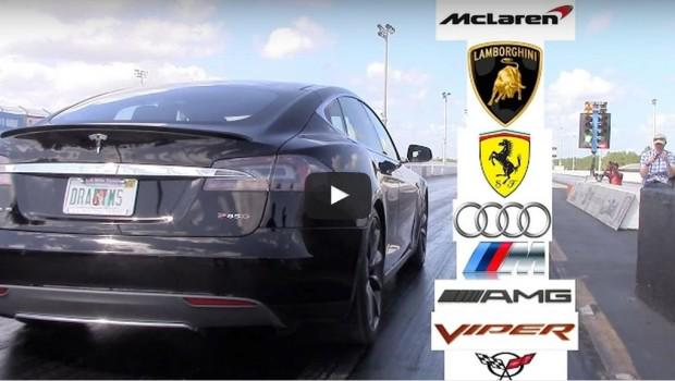 Tesla Model S P85D Drag Racing Video Compilation - Gas 2.0 http://t.co/eAME65WLw2 http://t.co/NEBzcUNbFr