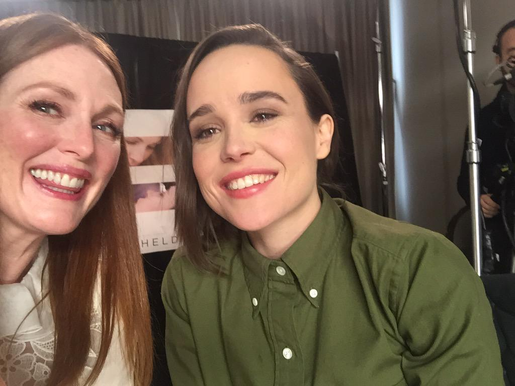 With my wifey @EllenPage doing press for @freeheldmovie #tiff http://t.co/LKG08By2Zv
