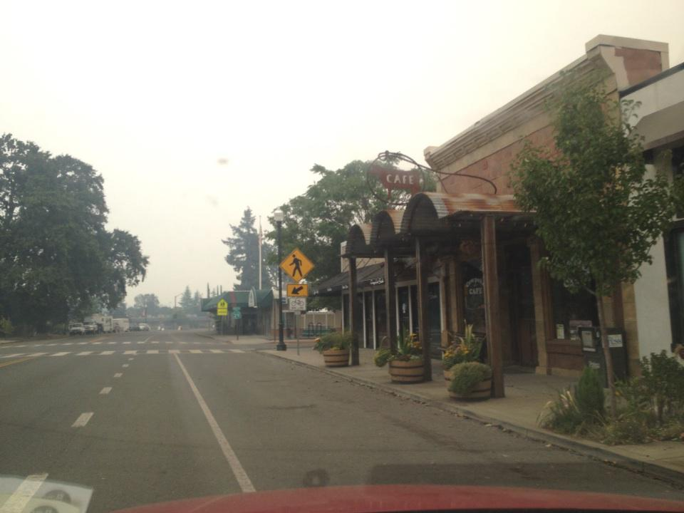 A lot of Main Street in Middleton is still here. #valleyfire http://t.co/XhEWd2v8ii