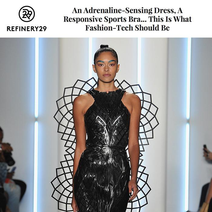 Thanks @Refinery29 for the show write-up feat. the expanding, #Intel powered  #AdrenalineDress! http://t.co/gBw1Cr3dzq