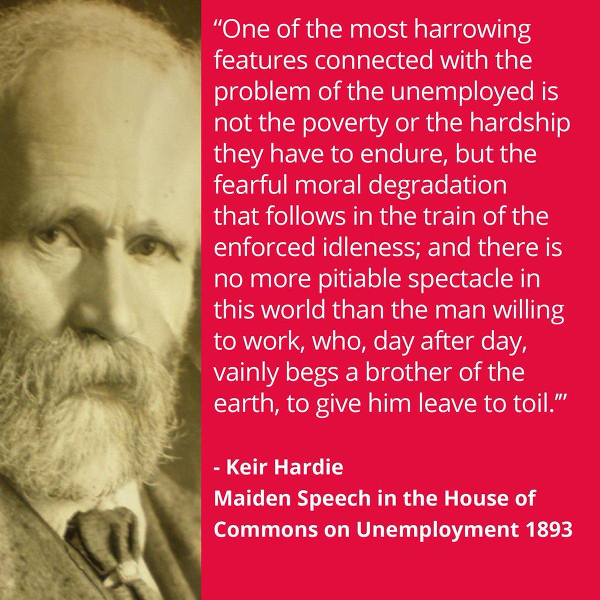 Keir Hardie maiden speech on unemployment #keirhardie100 http://t.co/d4OCywuqkD