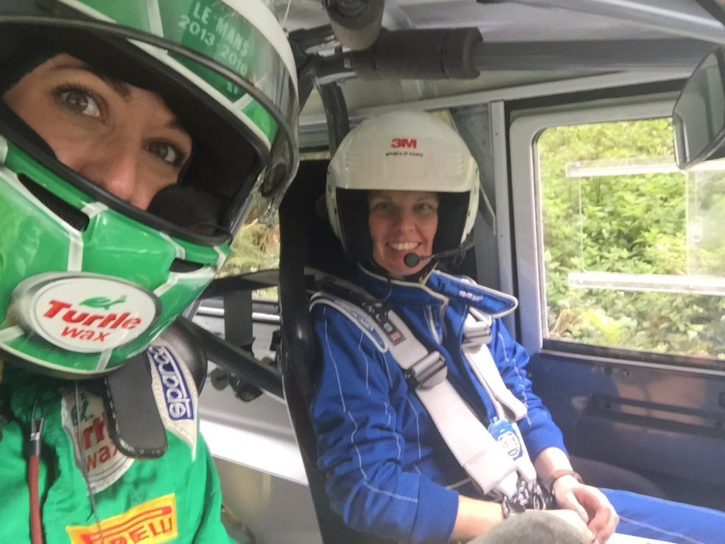 All girls rally team at @rallyyorkshire @LandRover_UK Defender Challenge because that's how we roll! We did it!! http://t.co/QTEn6wd5h9