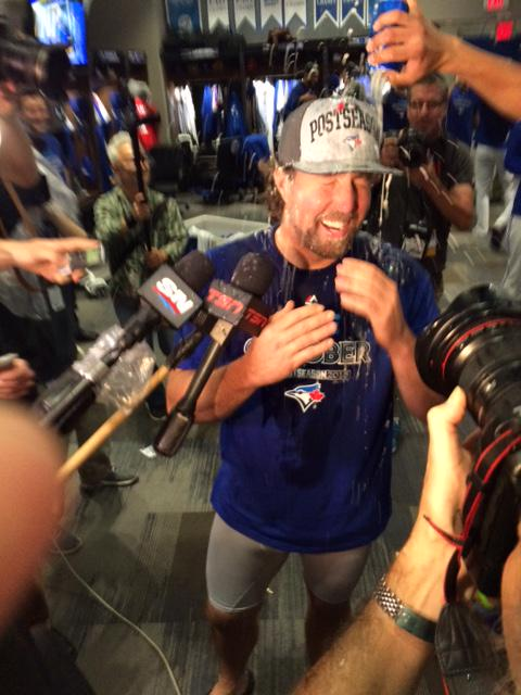 A few pics of the Blue Jays postgame celebration http://t.co/M7LB1wM2HX