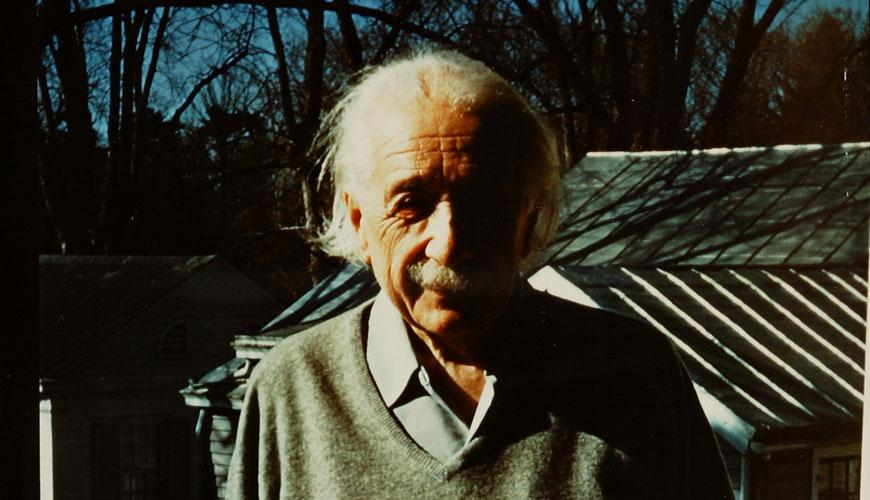 Rare color photo of Einstein;  on the porch of his house in Princeton, February 1954.  Courtesy of Einstein Archives. http://t.co/Db056jYnen