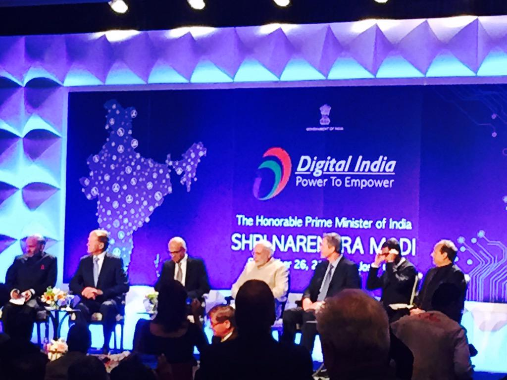 """Hearing about #DigitalIndia effort & vision for an India w/o """"bureaucracy & paperwork"""" #ModiInSiliconValley http://t.co/FOjixtThI8"""