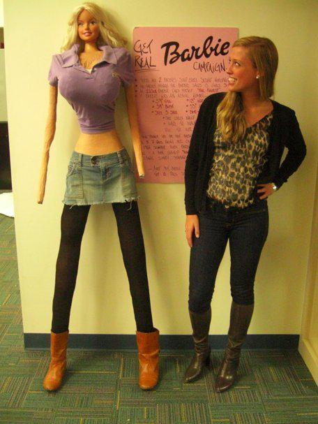 This is what a Barbies proportions would look like if it was a human. Demi is talking about how unrealistic that is. http://t.co/TVbEk7UJav