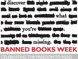 Celebrating the freedom to read. #BannedBooksWeek (Image courtesy of the American Library Association) http://t.co/4WSR4UJEo7