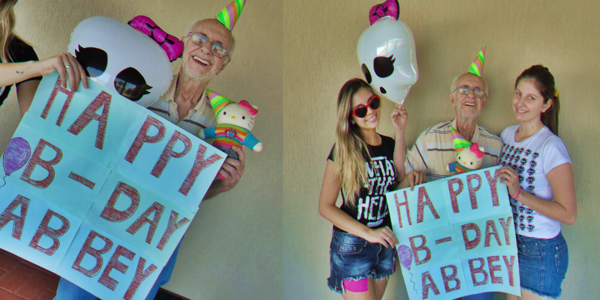 Is it just me or grandpa is really havin the best time wishin @AvrilLavigne happy bday?! LOL