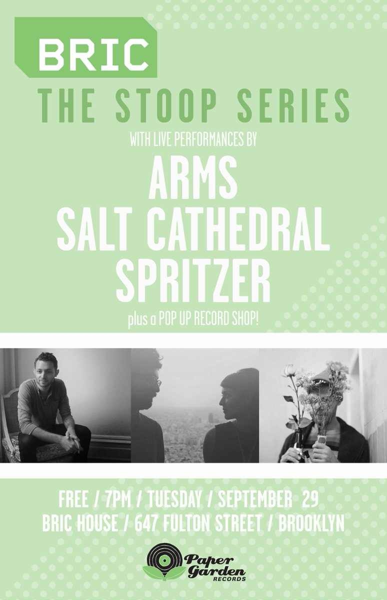 .@BRICartsmedia Stoop Series 9/29 w @SaltCathedral @ARMSongs @sprtizer420 RSVP, LTD space! http://t.co/0iLhrCF0aQ http://t.co/ftfV3sw9gm