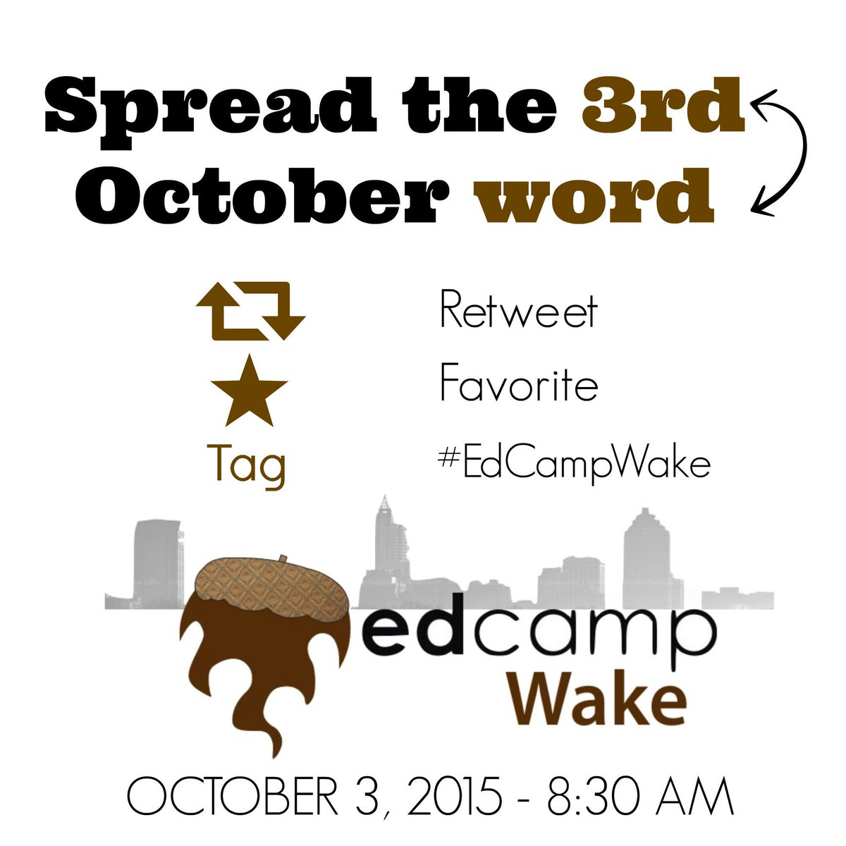 Help spread the 3rd :) http://t.co/FCIsBomZbQ #EdCampWake http://t.co/Wf4KmIbEqo