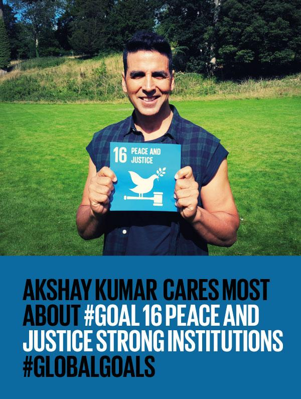 Akshay Kumar supports Goal 16- Peace And Justice Strong Institutions #globalgoals http://t.co/iZL1N8VoI6 http://t.co/qFdfs69oIM