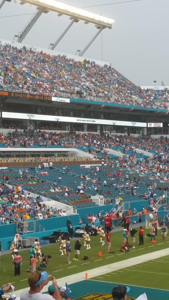 This is sickening. Moved loyal season tickets holders for this crap. Empty seats..@MiamiDolphins http://t.co/eWuKgTr9br