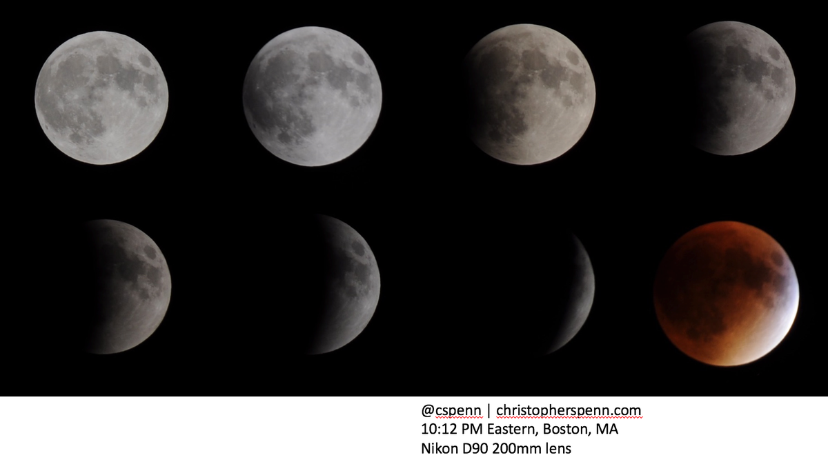 #SuperBloodMoon Down to F/5.6 and 2 second shutter speeds just to catch the light. http://t.co/xYHd5XuDeq