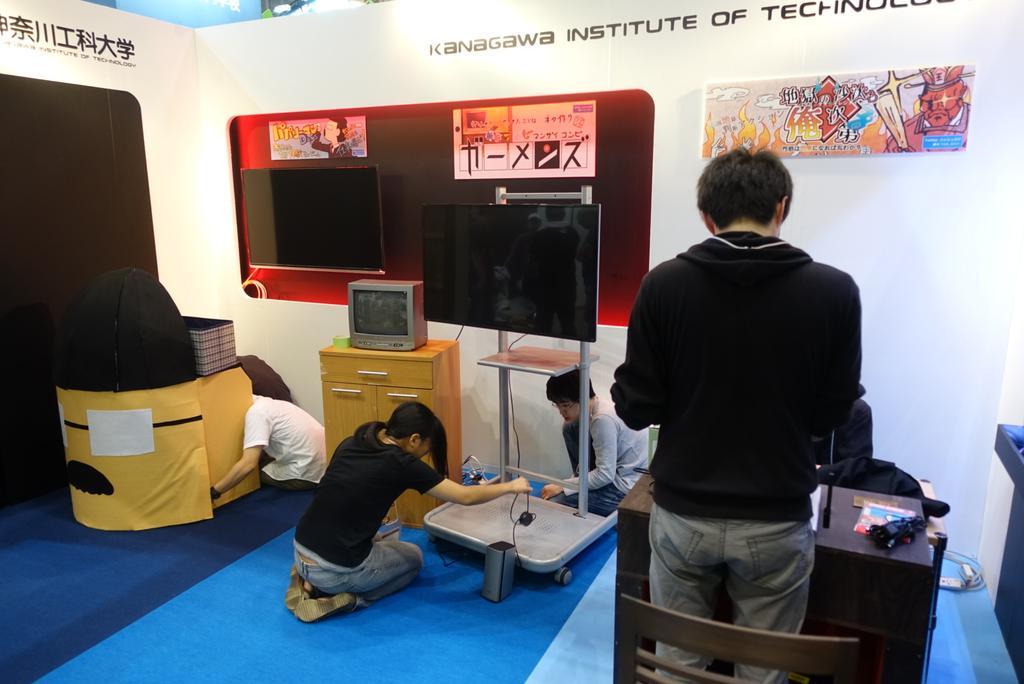 東京ゲームショウ2015設営完了。ホール2スクールエリア神奈川工科大学ブースに遊びに来てね。#tgs_kait http://t.co/uO4EjUQJti