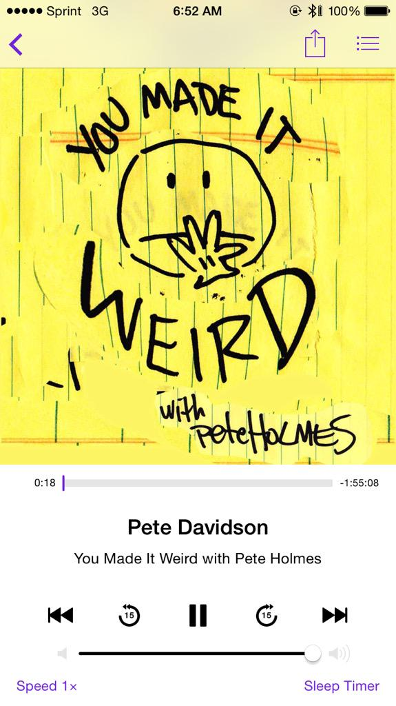 Bro Rogan (@FunnyManStan): This is gonna be a great episode @peteholmes @petedavidson http://t.co/xdraL9QDhC