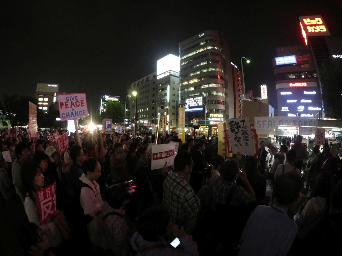 9/16 名古屋駅前でも SEALDs TOKAIのよびかけで安保法案抗議の集会。 #本当に止める http://t.co/eCjqSInkV8